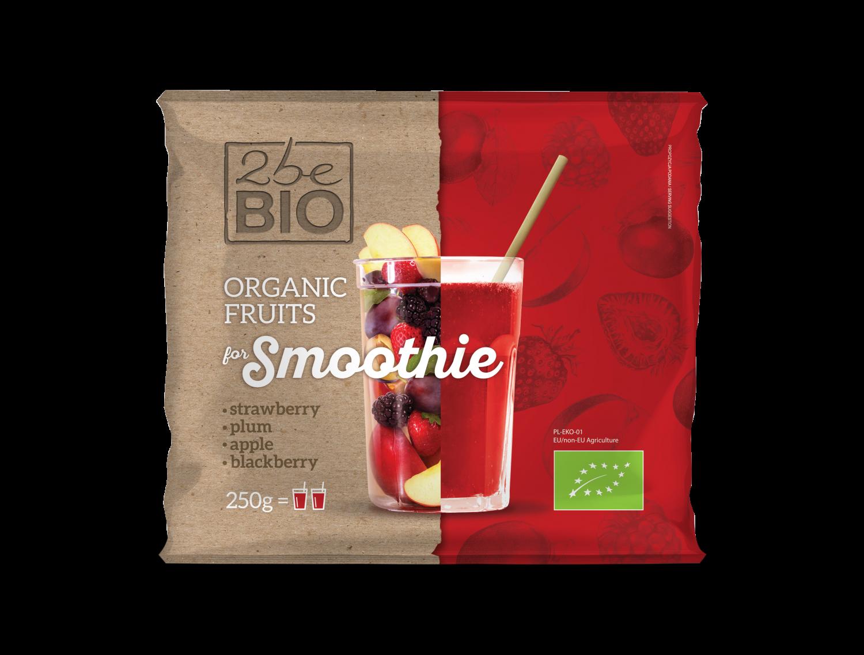 Ekologiczna mrożona mieszanka czerwonych owoców do smoothie