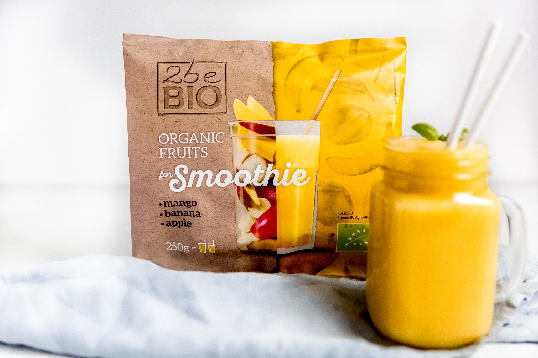 Ekologiczna mrożona mieszanka egzotycznych owoców do smoothie